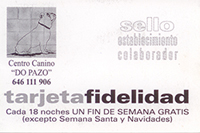 Tarjeta de Fidelidad de Residencia Canina do Pazo